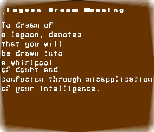 dream meanings lagoon