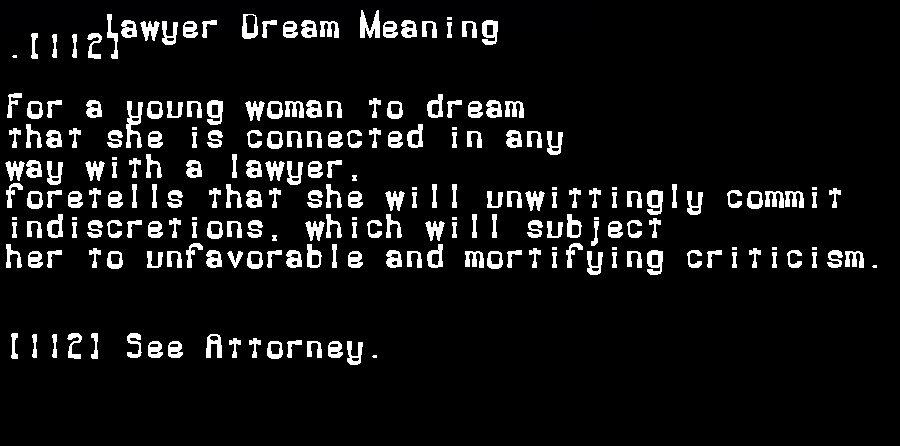 dream meanings lawyer
