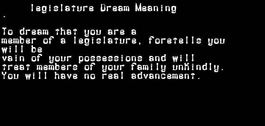 dream meanings legislature