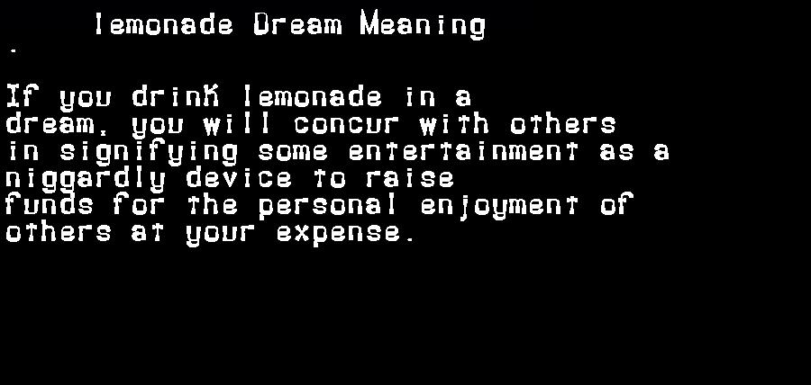 dream meanings lemonade
