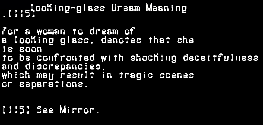 dream meanings looking-glass