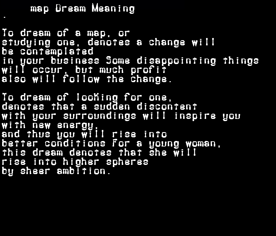 dream meanings map
