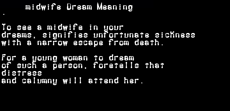 dream meanings midwife