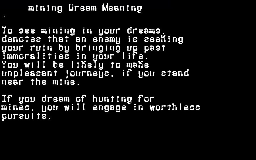 dream meanings mining
