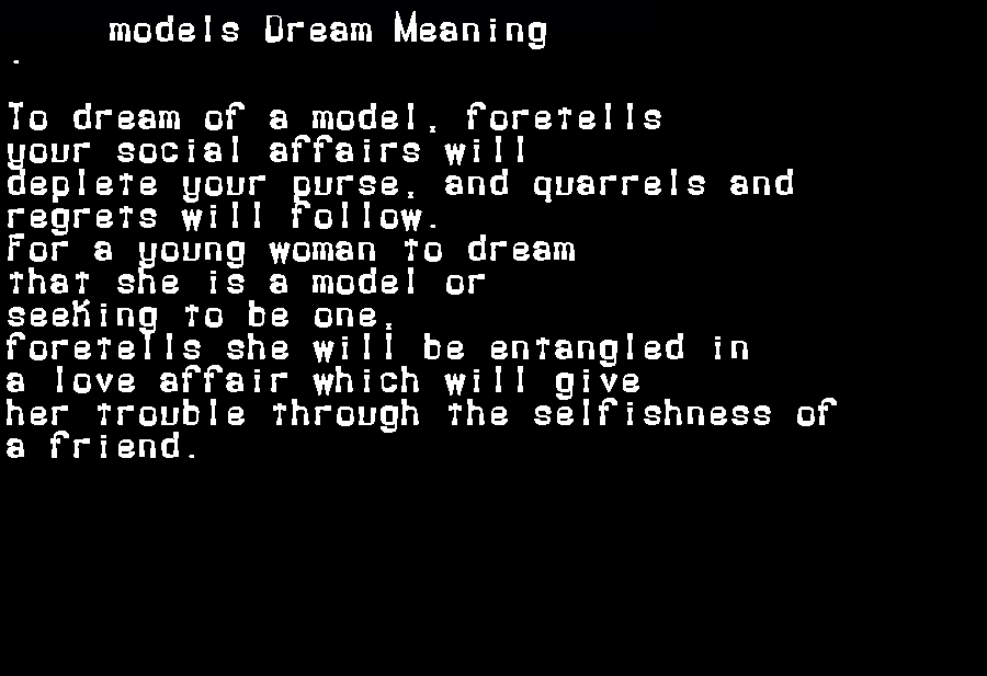dream meanings models