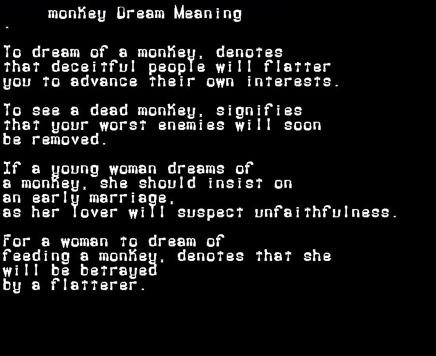 dream meanings monkey