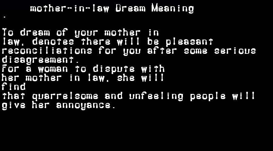 dream meanings mother-in-law