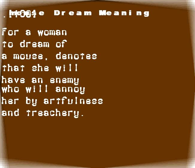 dream meanings mouse