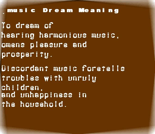 dream meanings music