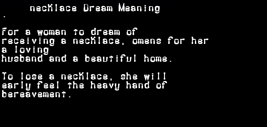 dream meanings necklace