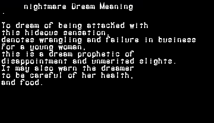 dream meanings nightmare