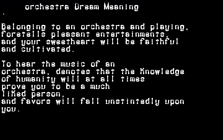 dream meanings orchestra