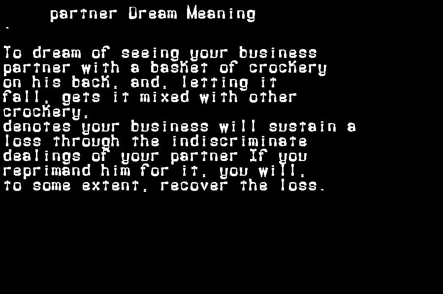 dream meanings partner
