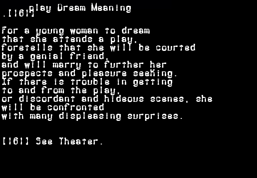 dream meanings play