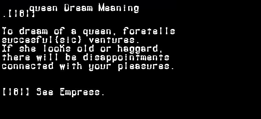 dream meanings queen