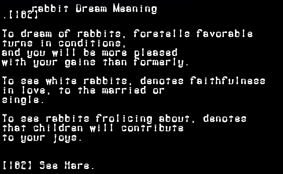 dream meanings rabbit