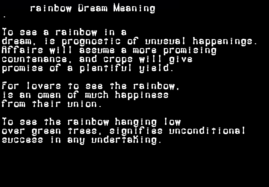 dream meanings rainbow