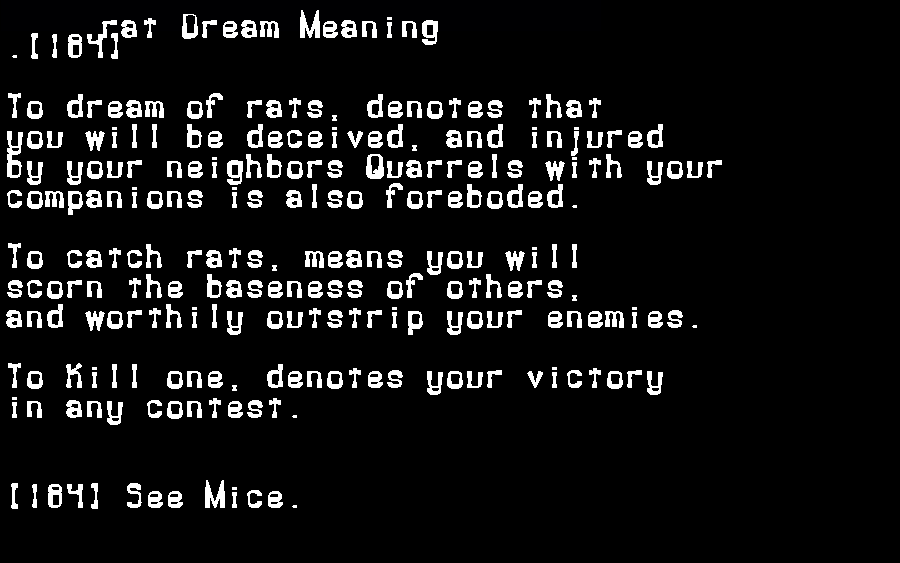 dream meanings rat