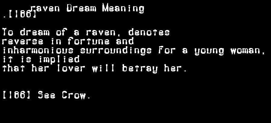dream meanings raven