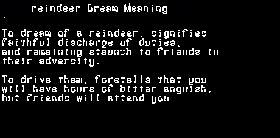 dream meanings reindeer