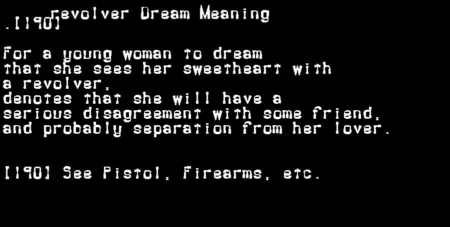 dream meanings revolver