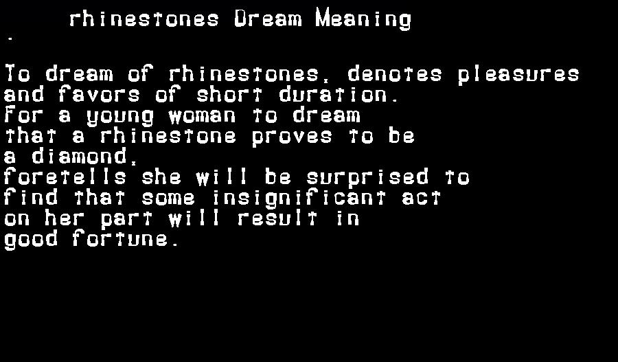 dream meanings rhinestones