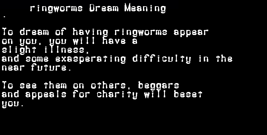 dream meanings ringworms
