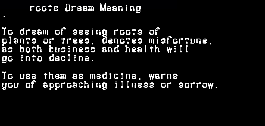 dream meanings roots