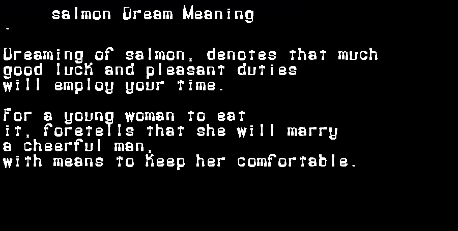 dream meanings salmon