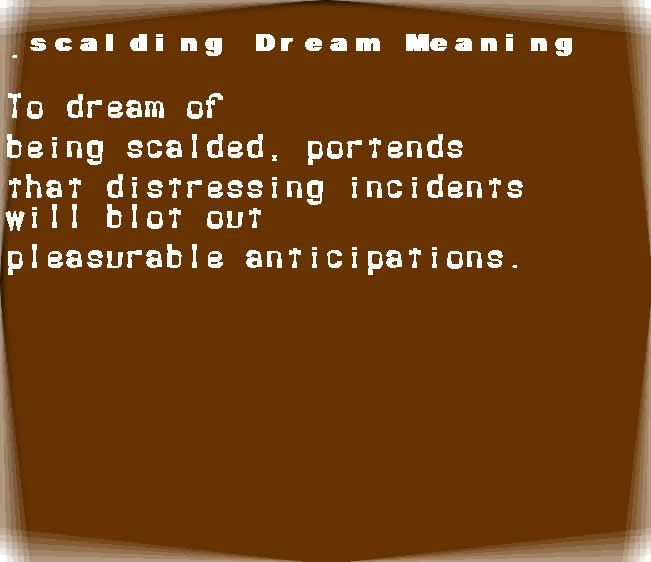 dream meanings scalding