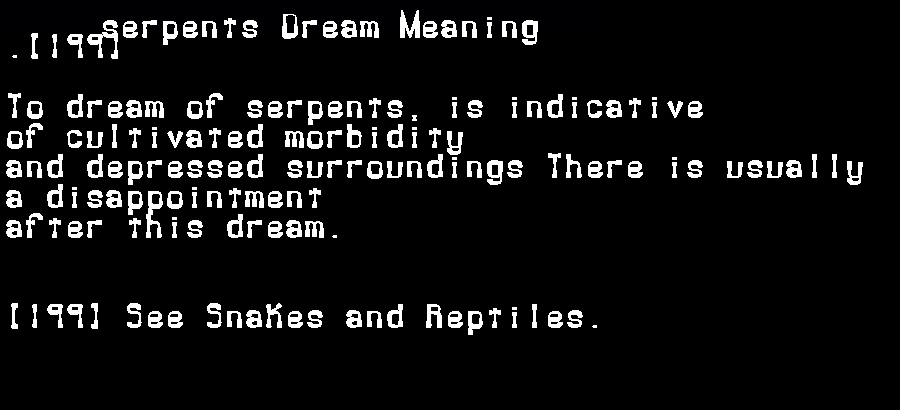 dream meanings serpents