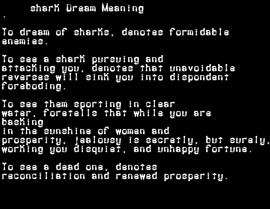 dream meanings shark