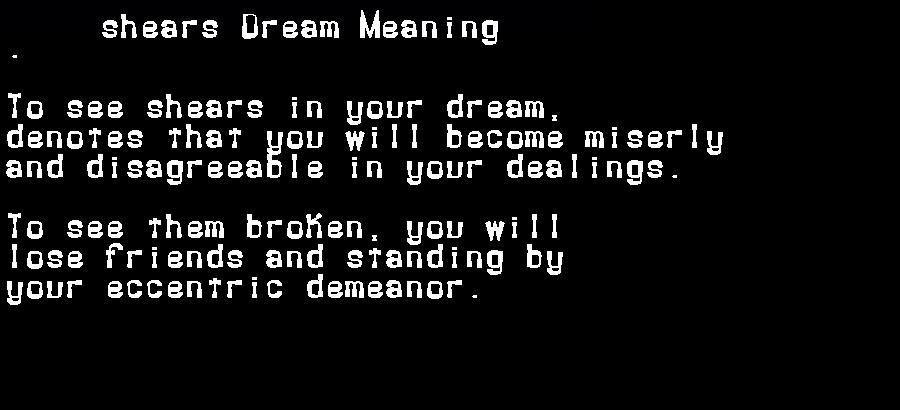 dream meanings shears