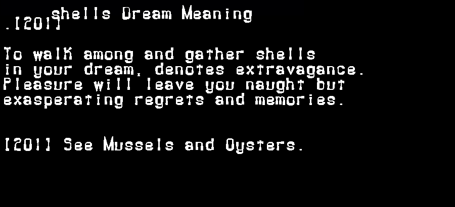 dream meanings shells