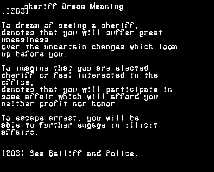 dream meanings sheriff