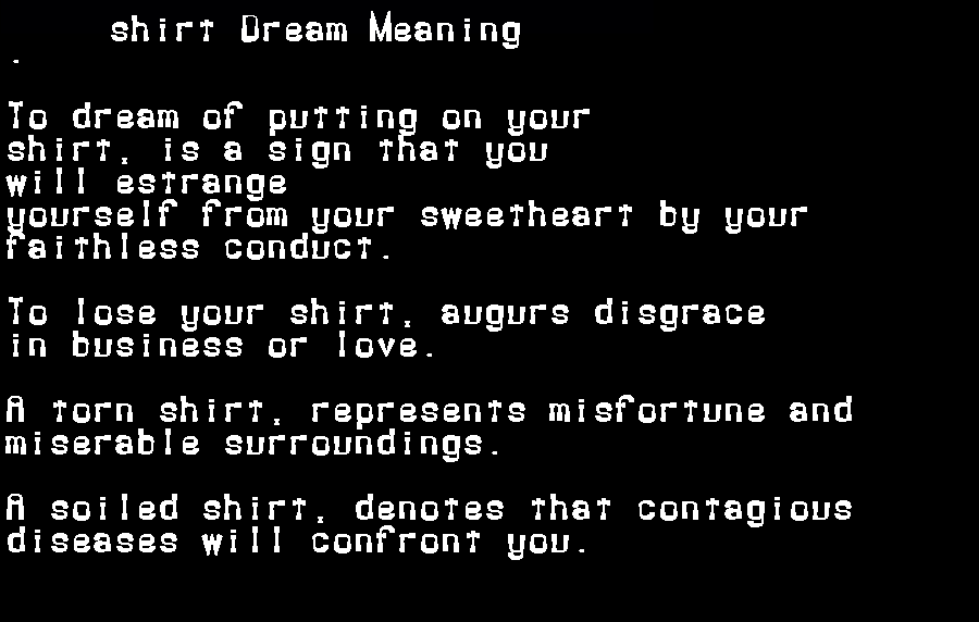 dream meanings shirt