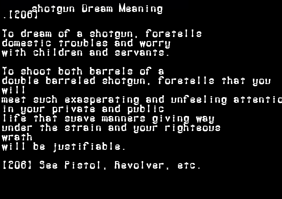 dream meanings shotgun