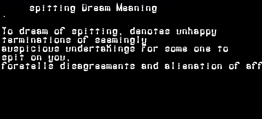 dream meanings spitting