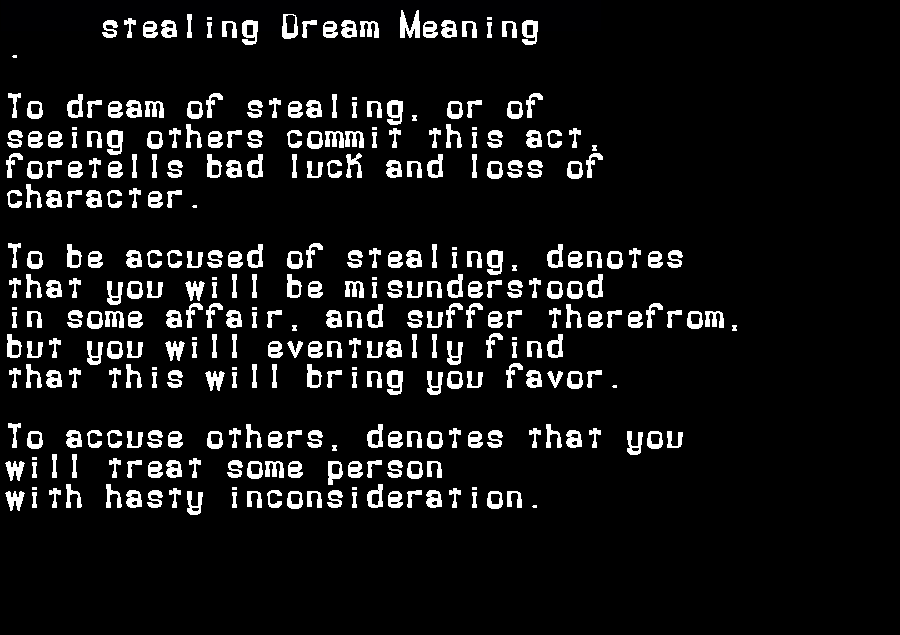 dream meanings stealing
