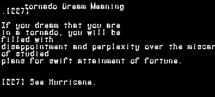 dream meanings tornado