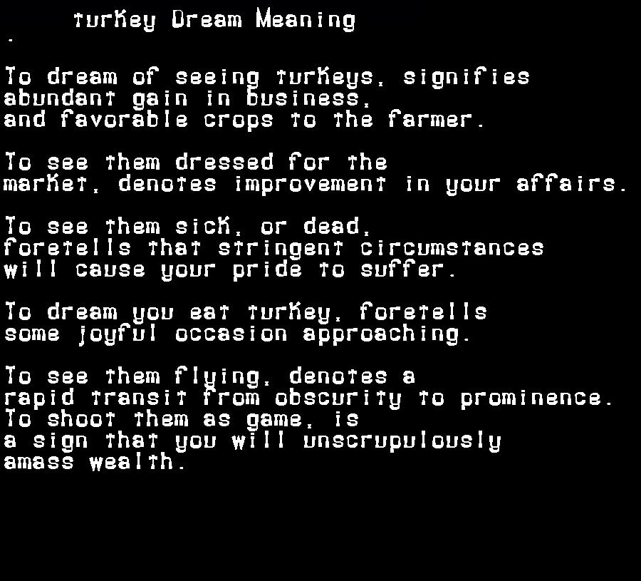 dream meanings turkey