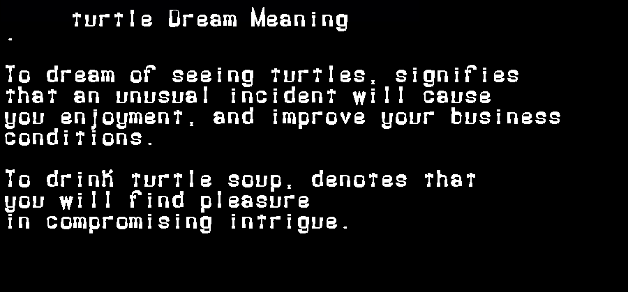 dream meanings turtle