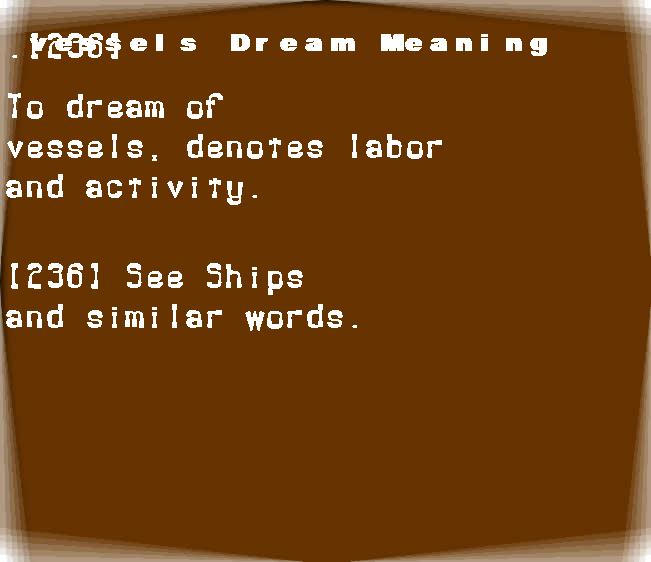 dream meanings vessels
