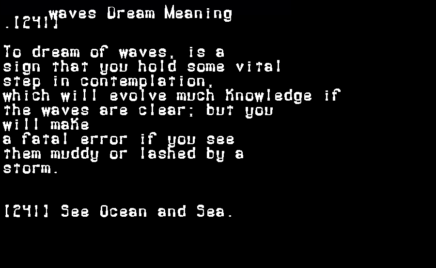 dream meanings waves