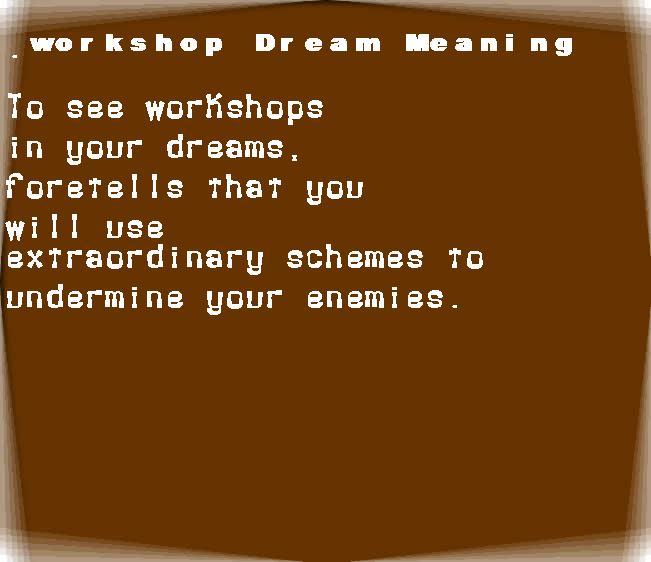 dream meanings workshop