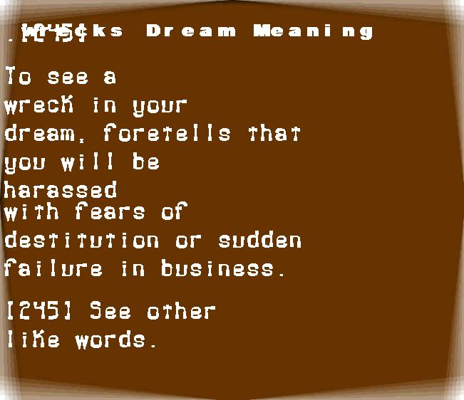 dream meanings wrecks